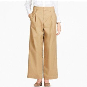 Uniqlo Chino Pants Beige High Waist Wide Leg Pleat
